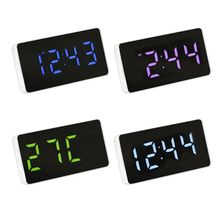 LED Mirror Clock Electronic Alarm Clock with Time/Calendar/Temperature Alarm X6HA цена 2017