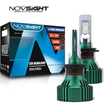 NOVSIGHT Fog Lights Single Beam Fog Lamps XHP50 LED 6500K Headlights Bulbs 60W 16000LM Auto Car White car headlights h7 led D45 new 8h h11 car led headlights 60w 12000lm single beam cree chip led headlamp fog lights cool white 6500k