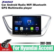 ZaiXi 9 Inch 2Din Android Car Radio Autoradio HD Bluetooth Tochscreen GPS Multimedia Player For Hyundai Accent Verna 2017~2019