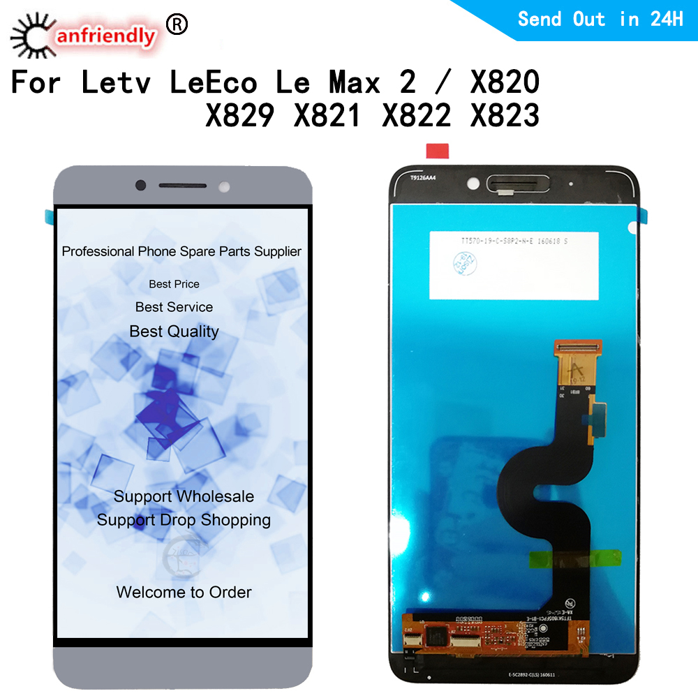 LCD For LeTV <font><b>LeEco</b></font> Le Max 2 <font><b>X820</b></font> X829 X821 X822 X823 LCD Display Touch panel <font><b>Screen</b></font> Replacement Digitizer module Assembly Glass image