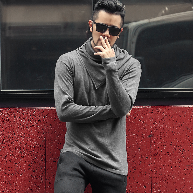 Winter Men's Turtleneck Sweaters Mens Slim Fit Knitted Pullovers Men Solid Color Casual Male Sweater Autumn Knitwear J783