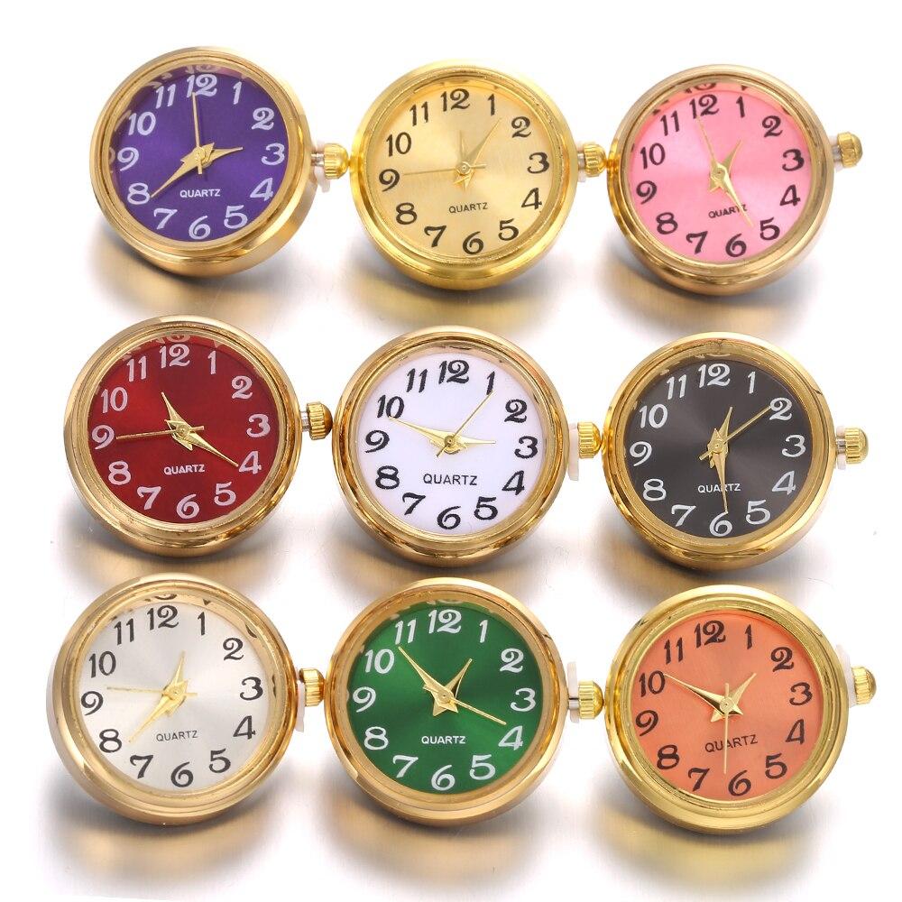חדש הצמד תכשיטי DIY 18mm זכוכית שעון הצמד כפתורים להחלפה מצליפה תכשיטי ביצוע Fit 18mm הצמד צמיד צמיד שרשרת