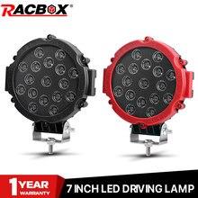 12V 24V lampada da lavoro a 7 pollici rotonda a Led da lavoro fari fuoristrada Off Road Driving Lamp fari fendinebbia per Jeep ATV