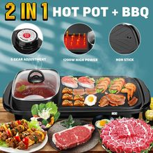 Dish-Plate Grills Barbecue-Machine Smokeless Multi-Cooker BBQ Meat Electric Indoor Home