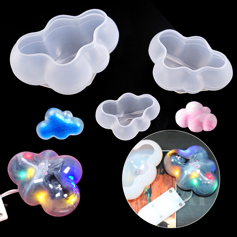 1PC New 3 Size Cloud Silicone UV Mold Silicone UV Resin Mold For Jewelry Necklace DIY Pendant Molds
