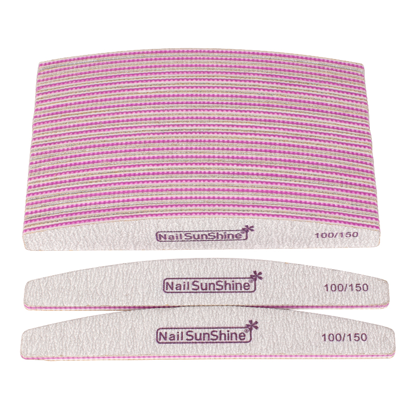 10pcs Acrylic Nail Files Block Buffer For Manicure UV Gel Nail Polish File 100/150 Grit Strong Sandpaper Manicure Nail Care Tool