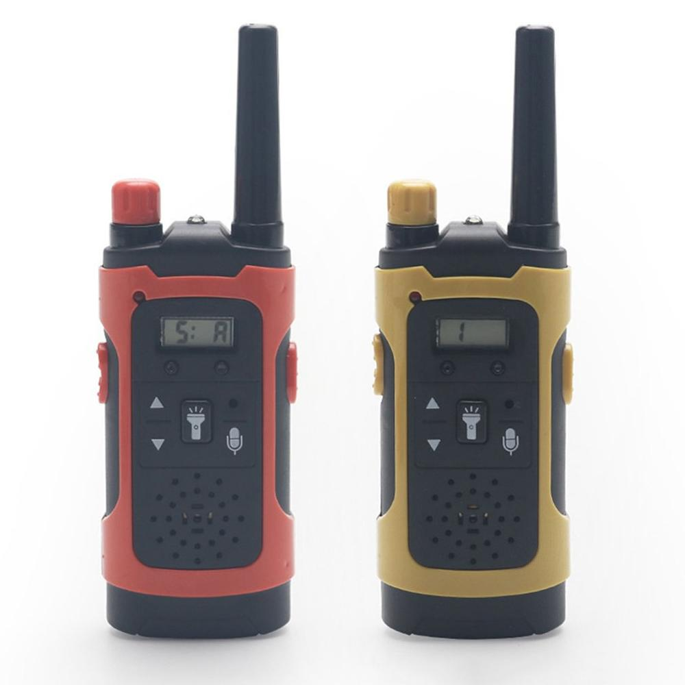 2pcs Wireless Walkie Talkie toys Mini 200-300M Kids Walkie Talkies Toy Child Electronic Radio Voice Interphone Toy Outdoor