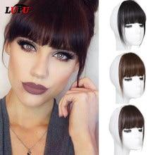 LUPU noir brun cheveux synthétiques frange frange pince dans les Extensions de cheveux faux postiches naturels pour les femmes haute température Fiber