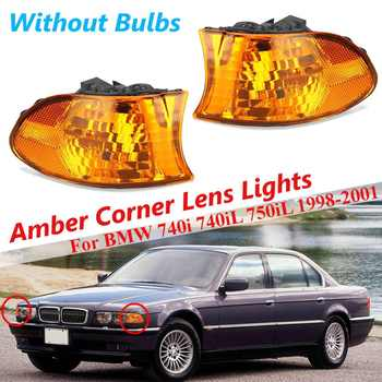 For BMW E38 7 Series 740i 740iL 750iL 1 Pair Car Front Amber Coner Signal Lamp Fog Light Drl Headlights Styling Car Accessories image