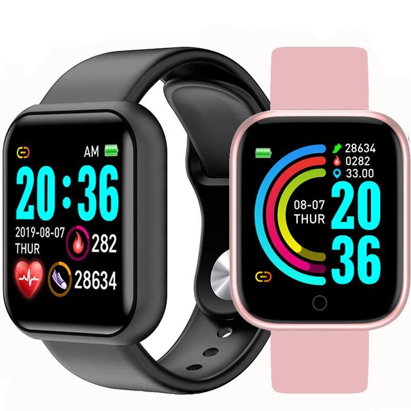 Y68 Pedometers Sport Watches Color Screen Sport Walk Step Counter Children Men Women Smart Bracelets D20 Fitness Smart Wristband