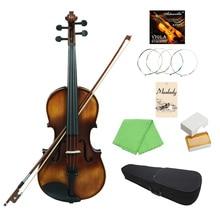 Muslady VLA-30 4/4 полный размер классический альт ель Верхняя доска палисандр гриф с чехол для переноски канифоль ткань для чистки скрипки