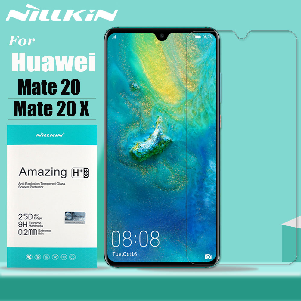 Nillkin For Huawei Mate 20 X Glass Screen Protector 9H Hard Clear Safety Protective Tempered Glass For Huawei Mate 20 20X Film