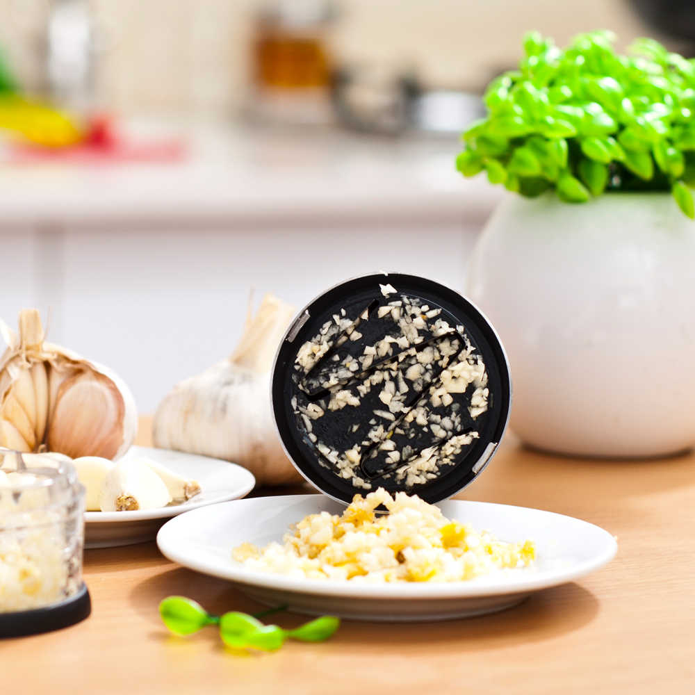 רב תפקודי מזון ופר Mincer נירוסטה להב Slapchop פירות בצל, זנגביל שום חותך ידני ופר כלי