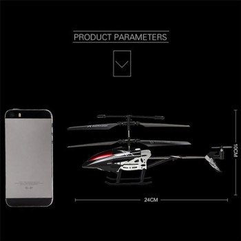RC Helicopter 3.5 CH Radio Control Helicopter with LED Light Quadcopter Children Christmas Gift Shatterproof Flying Toys 2