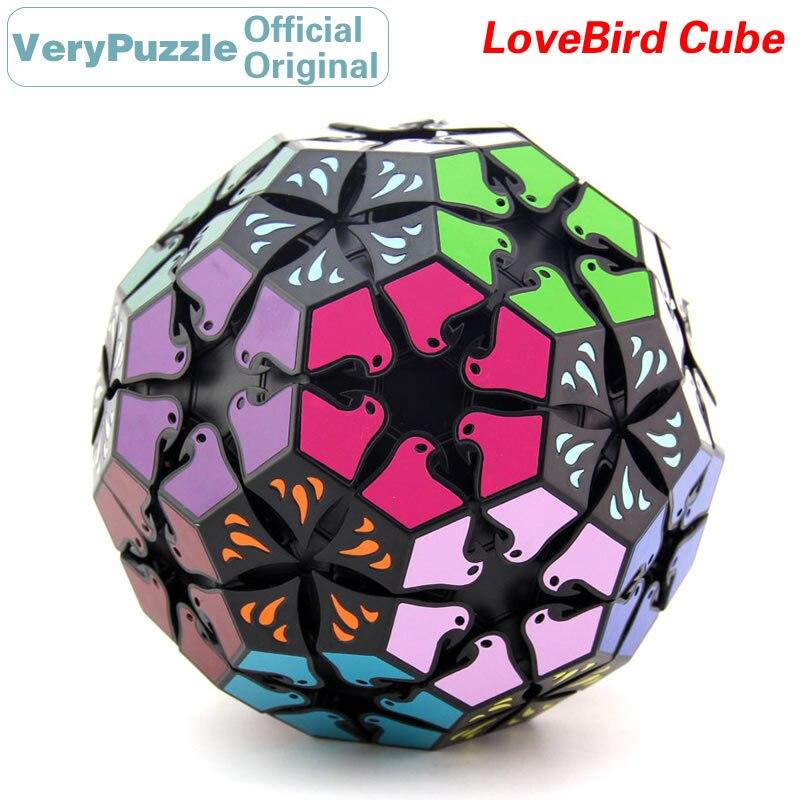 Original VeryPuzzle LoveBird 32 visages Football magique Cube vitesse Twisty Puzzle casse-tête jouets éducatifs pour les enfants