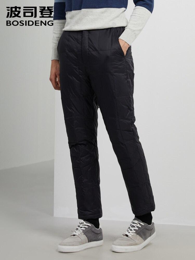 BOSIDENG Men Duck Down Pants Winter Warm Trousers Thicken Casual Wear Inner Outwear B90130009