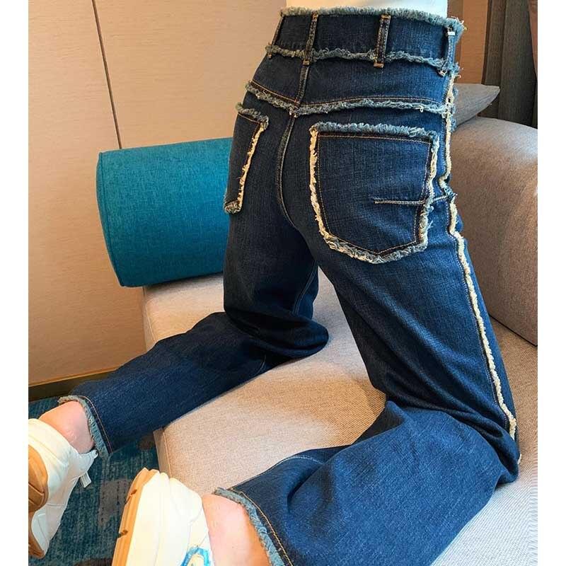 Высокое качество, повседневные винтажные Эластичные Обтягивающие зимние джинсы, женские узкие брюки с карманами, женские осенние длинные д... - 2