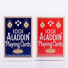 1 колода гладкие 1001 Аладдин игральные карты красный или синий Волшебная карточка покер Волшебные коллекционные Волшебные трюки колоды реквизит для мага