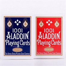 1deck Smooth 1001 ALADDIN playing cards red or blue Magic card Poker Magic Collectible Deck Magic Tricks Props magic wallet magic props black blue