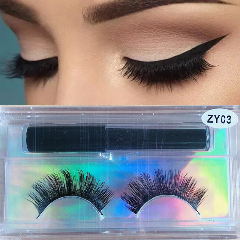 Magnetic False Eyelashes Waterproof Magnetic Eyeliner Easy To Operate NO Glue Magnetic False Eyelashes Extension Makeup Supplies