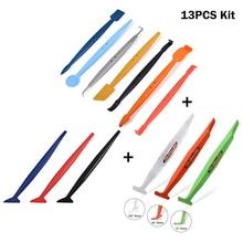FOSHIO 13PCS Car Tool Kit Carbon Fiber Sticker Vinyl Wrap Magnet Corner Stick Squeegee Window Film Tint Wrapping Car Accessories