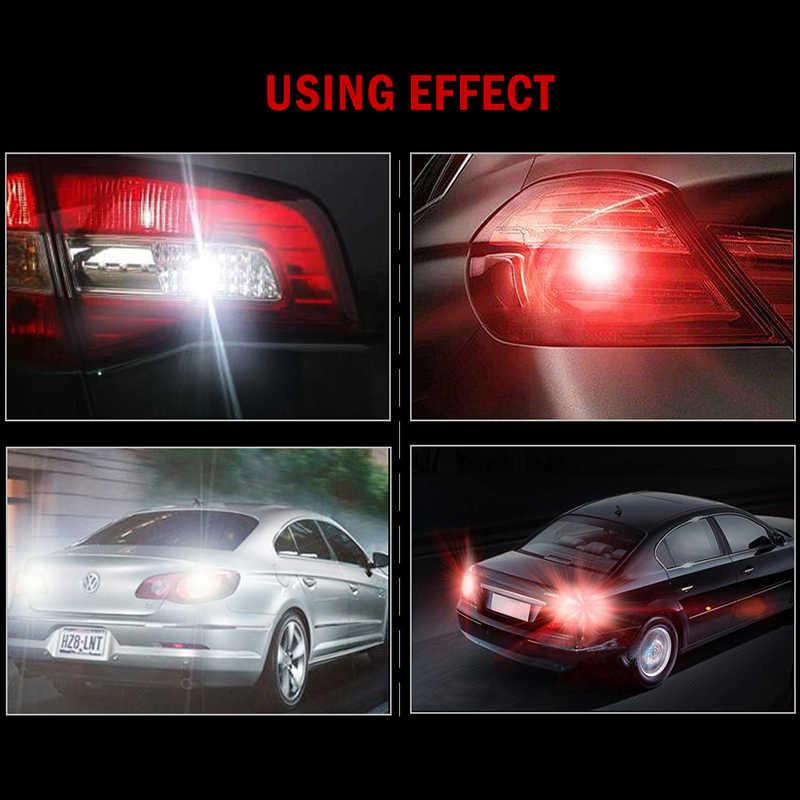 Yeni P21W LED ba15s 1156 led filament çip araba ışık S25 oto araç ters dönme sinyali ampul lamba DRL beyaz 12v 24v