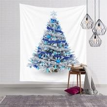 Christmas-Tapestries Cloth Wall-Covering Yoga-Mat Bedroom Home-Decorative Santa-Tree
