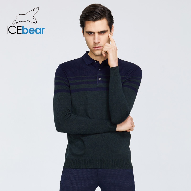 ICEbear Spring 2020 New Men's Sweater Casual Round Neck Sweater Brand Clothing 1908