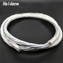 Haldane 7N OFC Silver Plated Cord Nordost Odin Bulk Hi-End Audio Power Wire Reference Amplifier CD Player Power Cord Cable(China)