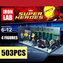 New MOC Iron Man Underground Marvel Tony Stark Fit Legoings Avengers Tower Endgame Figures Building Block Brick kid gift boys last man in tower