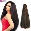 20 дюймовые курчавые прямые вязаные волосы, предварительно загнутые Натуральные Искусственные волосы, Омбре, плетеные волосы, наращивание в...