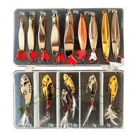 Kit de pesca pesada cuchara 10g/15g/20g/30g/40g conjunto de Señuelos de Pesca caja con sonajero VIB vibración Wobbler Minnow Cranbait Spinners Jigs