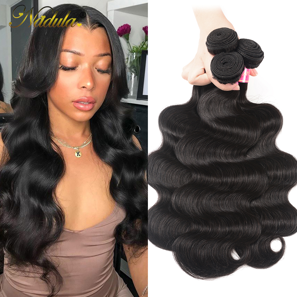 Nadula Hair 3 Bundles/4pc/Lot  Body Wave Hair s 8-30inch  Hair s 100%    1