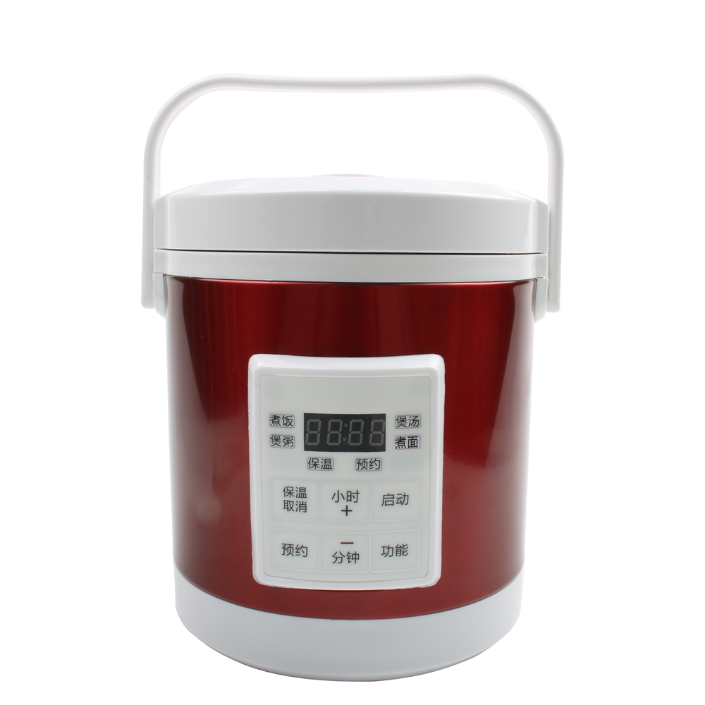 DMWD 1.6L Mini Electric Rice Cooker 12V-24V For Car And Truck Travel Portable Soup Pot Cooking Pot 12H Appointment