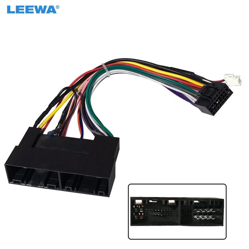 LEEWA 16pin Car Radio Audio 16PIN Wiring Harness Adaptor For KIA Carens IX35 K2/K3/K4/K5 Power Calbe Wire Plug Harness #CA2170