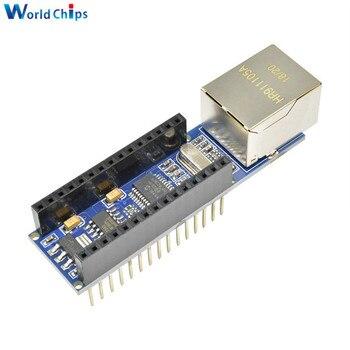 10Pcs/Lot Nano V3 Ethernet Shield ENC28J60 Microchip HR911105A Ethernet Webserver Board Module for Arduino Nano 3.0