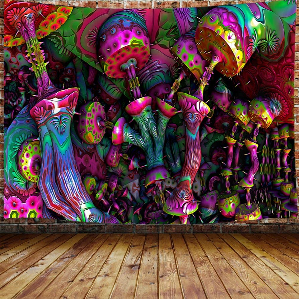 Custom Backdrop Fluorescent Glow Tapestry Psychedelic Art Banner Psy Wall Hanging Mega Discount 11aa3 Cicig