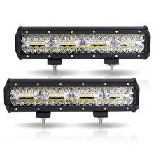 Barre lumineuse LED de travail 240W barre de Led voiture 12V 12 pouces combo offroad worklight barra led 4x4 voiture accessoires antibrouillard Spot projecteurs