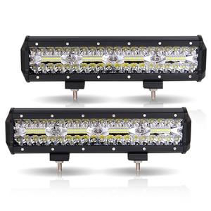 Image 1 - Work Light Bar LED 240W Led Bar Car 12V 12inch combo offroad worklight barra led 4x4 car accessories Fog Lights Spot Flood Lamps
