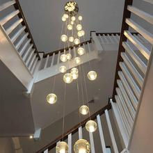 Staircase LED Crystal Chandelier Villa Living Room Dining Room Duplex Floor Chandelier Hotel Decoration Chandelier elegant hotel big murano chandelier and hand blown glass chandelier