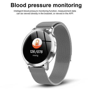 Image 4 - Reloj inteligente CF18 IP67 para hombre y mujer, reloj inteligente deportivo con recordatorio y Bluetooth