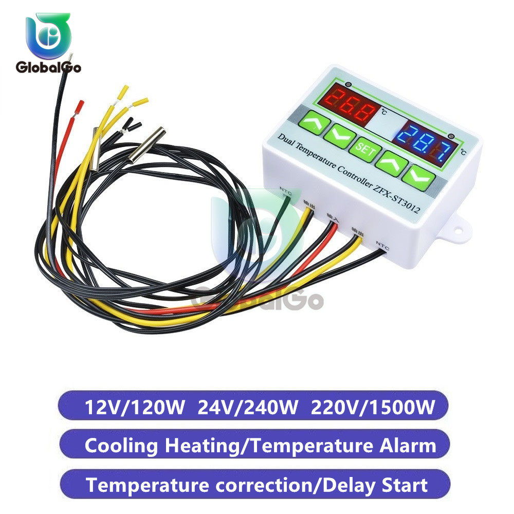 Temperature Controller Switch Temperature Correction Buzzer Alarm ST3012 Thermometer Thermostat For Air Conditioning Incubator