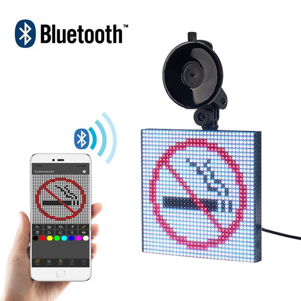 Bluetooth 12V voiture LED signe APP contrôle rvb écran Programmable préréglage défilement Message LED panneau d'affichage livraison directe cadeau bricolage