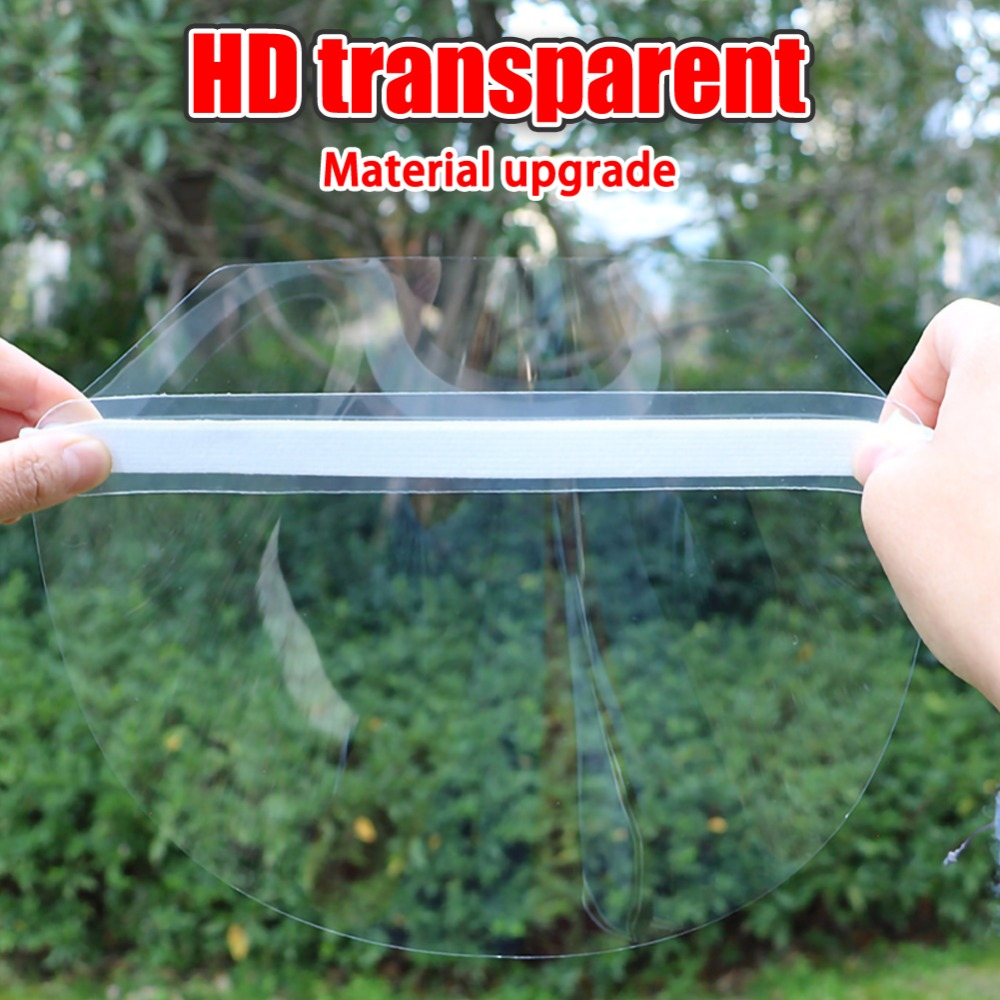 4/10PCS Clear Face Cover with Double-Sided Film and Adjustable Headband to Protect Full Face 6