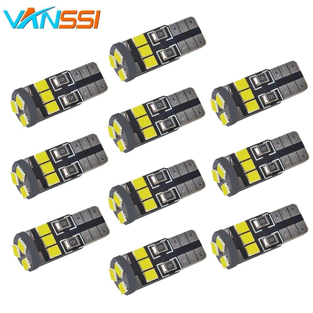 10 шт., автомобильные дверные огни W5W 194 168, светодиодный светильник 2835 9SMD, светодиодный свет, лампочки белого, красного, голубого, желтого, сине...