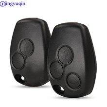 Jingyuqin capa para chave de carro, com 2 botões, caixa em branco, para renault dacia modus clio 3 twingo kangoo 2 nenhum