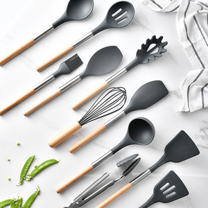 Image 3 - 10/11PCS Silicone Kitchenware Non stick Cookware Cooking Tool Spatula Ladle Egg Beaters Shovel Spoon Soup Kitchen Utensils Set