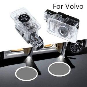 Image 1 - Proyector de sombra de fantasma con Logo LED, luz de bienvenida laser para puerta de pasajeros, para Volvo 2 uds