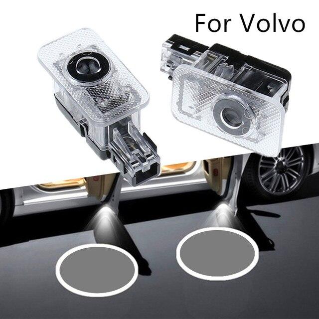 Proyector de sombra de fantasma con Logo LED, luz de bienvenida laser para puerta de pasajeros, para Volvo 2 uds