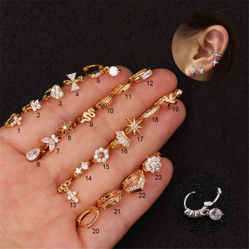 TTLIFE 5mm Cz Flowers Cuff Hoop Earring Cartilage Helix Tragus Rook Nose 20G Piercing Jewelry Hoop.jpg 350x350 - TTLIFE 5mm Cz Flowers Cuff Hoop Earring Cartilage Helix Tragus Rook Nose 20G Piercing Jewelry Hoop Cz Helix Cartilage Earring